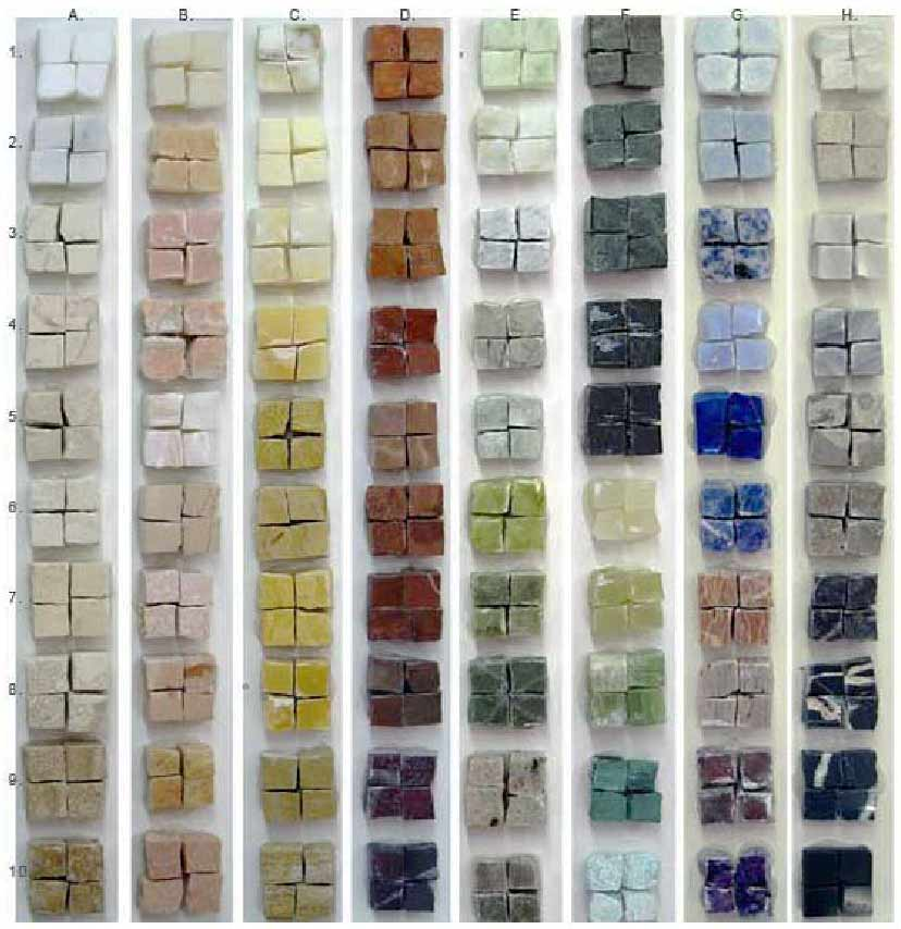 Natural Stone Colour Selection for Mosaics