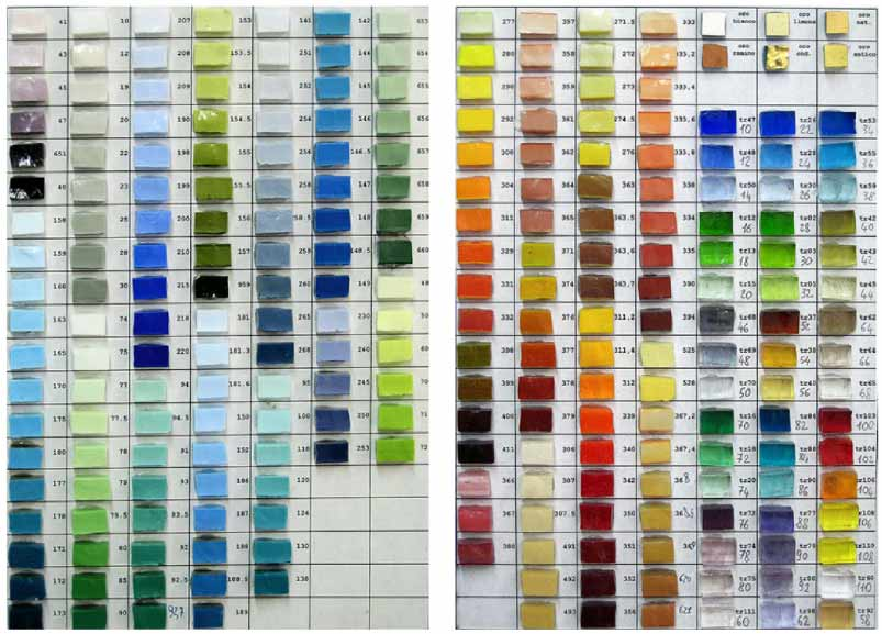 Smalti Mosaic (Murano Glass Mosaic) Colour Scale