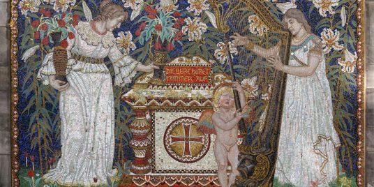 Mosaik am Grab der Familie Dernburg