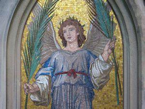 Engel mit Palmzweig, nach Restaurierung