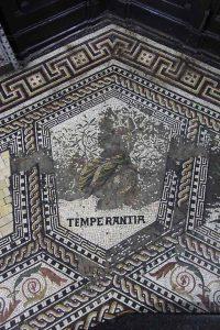 Mosaikfussboden Kevelaer, Vorzustand des Bildfeldes Temperantia 2011