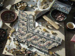 Gnadenkapelle Kevelaer, Arbeit am Mosaik