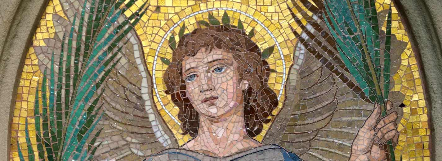 Restoration of Tomb Mosaic: Angel with Palm Branch