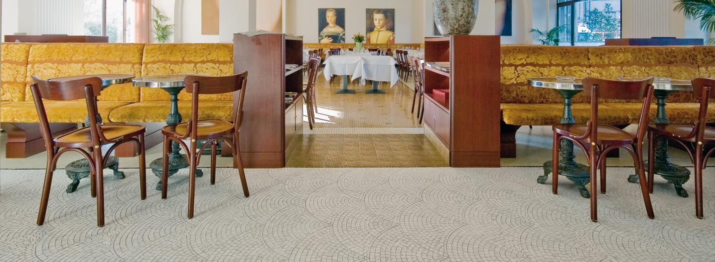 Mosaic Floor Bianco Perlino