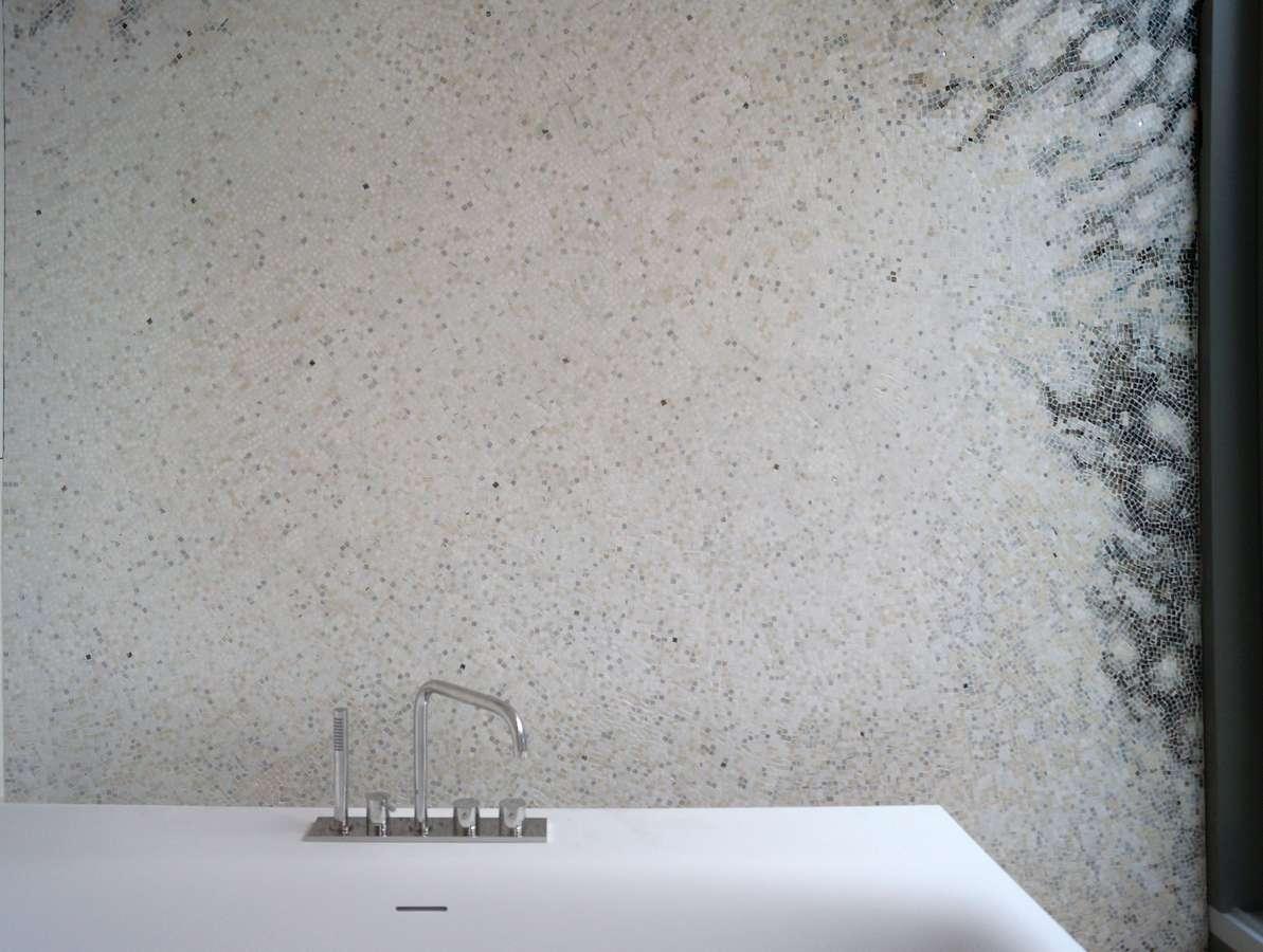 Wandmosaik Aus Naturstein Für Badezimmer