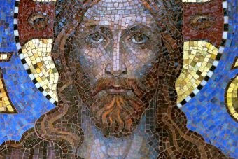 Friedhofskapelle Sophien II, Christus-Darstellung, restauriert