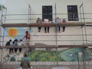 Arbeit an der Cityarts Peacewall
