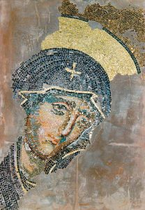 1:1 Replik Madonna aus der Haghia Sophia, Istanbul, ca. 13.Jhr.