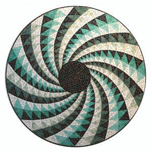Mosaiktisch, Durchmesser 80 cm, Smalten