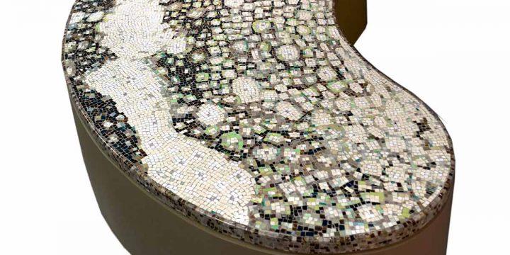 Entwurf cosmomusivo technik vorderseitig auf papier ort showroom cosmomusivo mosaikskulptur marmorterracotta wandbild berlin