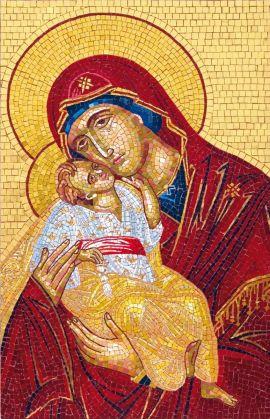 Byzantinische Madonna mit Kind